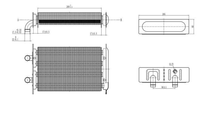 Теплообмінник первинний Beretta City 28 CSI до 2015 (20052579 BR24 18C) 89001413c945c